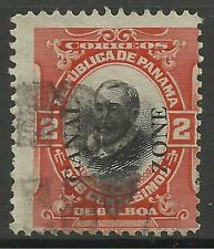 CANAL ZONE. 1920 2c Overprint Type III. Cat SG 2010. Used