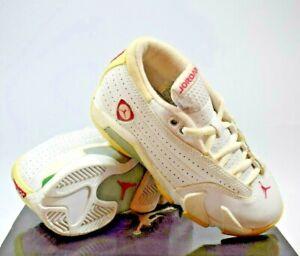Nike Air Jordan 14 Retro LOW (PS) White/RED/GREEN KIDS Size 2Y (312569 161)