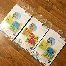 NEW LOT of 3 Intex Arm Bands Swim Inflatable Water Wing Octopus Dinosaur Age 3-6