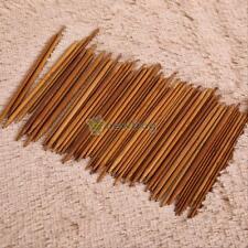 11 Sizes Carbonized Bamboo Double Pointed Knitting Needles Smooth Crochet 55 Pcs
