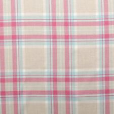 Tartan Check Multicolour Pastel Plaid 100% Cotton Faux Wool Upholstery Fabric