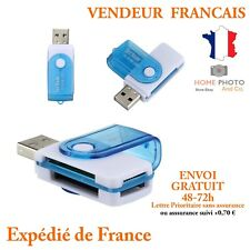 LECTEUR ADAPTATEUR CARTE MEMOIRE MICRO SD SDHC MMC TF TFLASH CARD READER USB 2