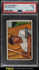 1951 Bowman Willie Mays ROOKIE RC #305 PSA 5 EX