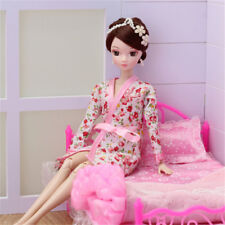 Handmade Doll Clothes Flower Printed Pajamas Sleepwear for Barbie Doll JDUK