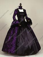 Gothic Renaissance Victorian Brocade Dress Prom Gown Steampunk Punk Costume 119