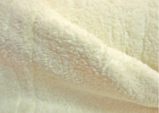 0,5m Teddy-Plüsch wollweiß 80%BW 20% PE Meterware