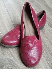 NaturalSoul by Naturalizer Villagio Red Women's Shoes Slip On Loafers 9M