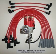 MOPAR 273-318-340-360  Small Red MALE Cap HEI Distributor & 8mm Spark Plug Wires