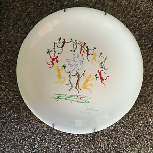 """PICASSO Ceramic Plate """"Dance of Youth"""" - 1961 - Mint condition, never displayed"""