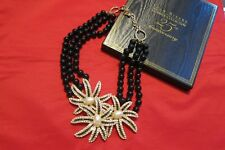 Ciner for Joan Rivers 25th Annivers. Collection Faux Pearl/Clear Black Necklace
