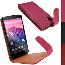 Rosa Custodia Case Pelle per LG Google Nexus 5 Funzione Sleep/Wake Prot. Schermo