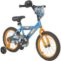 "Dynacraft 16"" Hot Wheels Boy's Bike, Blue Kids With Training Wheels Sports Gifts"