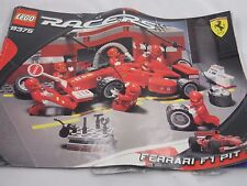 LEGO RACERS 8375 FERRARI F1 PIT SET PICTURE 1-15 DIAGRAMS INSTRUCTION BOOK ONLY