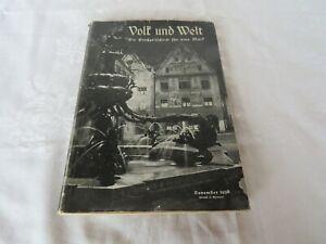 Volk und Welt November 1938-OPPERMANN-Die Großzeitschrift für eine Mark