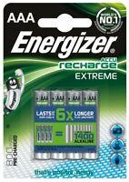 4 x Energizer R03/AAA Ni-MH 800mAh Extreme Wiederaufladbarer Batteries (Blister)