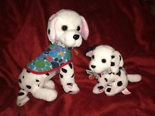 Animagic Ruby & Lottie Dalmatian Dogs Interactive Soft Toys Lights and Sounds