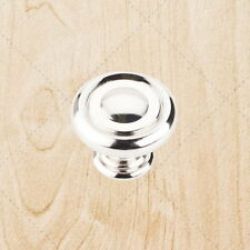 Cabinet Hardware Drawer Ring Knobs ku17 Polished Nickel pull 1-1/4""