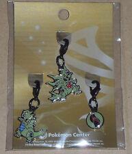 Japanese Pokemon Center Limited Metal Charm Tyranitar Mega Tyranitar Tyranitarit