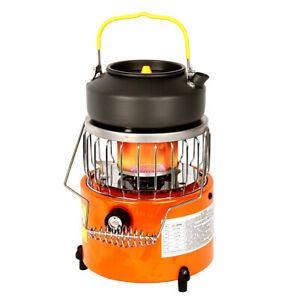 2 In 1 2000W Camping Stove Heater Heating Cooker For Hiking Backpacking Camping