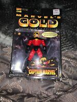 """CAPTAIN MARVEL 5"""" Action Figrue MARVEL GOLD COLLECTOR'S EDITION Toy Biz Toy"""