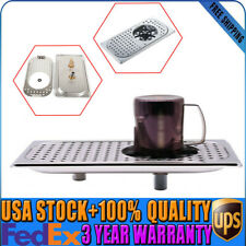 """Glass Rinser Drip Tray Cup Washer Cleaner 13""""x7.1"""" Stainless Steel 201 For Bar"""