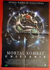 MORTAL KOMBAT ANNIHILATION ROBIN SHOU 1997 RARE EXYU MOVIE POSTER