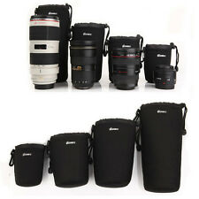 New Waterproof 4PC DSLR SLR Camera Lens Bag Case Pouch Padded Cover Bag S M L XL