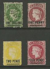 ST HELENA 1868-82 SELECTION OF 4 (1 USED ,3 UNUSED) ,SEE SCANS
