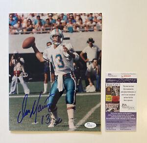 Dan Marino Signed Autograph 8x10 Photo JSA Certified Miami Dolphins HOF NFL