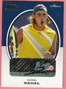 2007 Ace Authentic Stars Rafael Nadal Autograph #S2 Ace Authentic Tennis Nadal