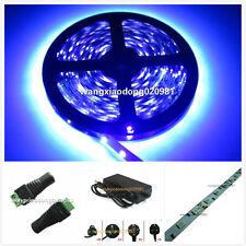 5M UV 395nm 5050 SMD Purple 300 LED  Strip Light NP 12V + 12V 6A Power Supply Ki
