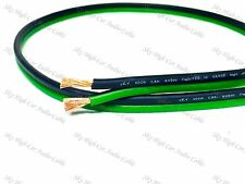 10' feet OFC TRUE 12 Gauge AWG GREEN/BK Oxygen Free Speaker Wire Car Home Audio