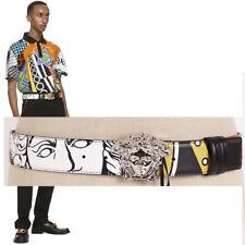 sz 90 US 38 NEW $475 VERSACE Men Reversible POP ART MEDUSA LOGO PRINT BELT NWT
