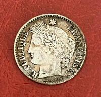 FRANCE Rare 20 centime1851 A Paris Ceres argent Silver F146/7 -KM# 758.1 en TTB+