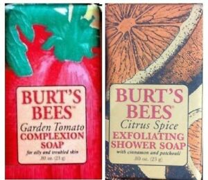 2 BURTS BEES GARDEN TOMATO & CITRUS SPICE BAR SOAP TRAVEL SIZE FREE SHIPPING USA