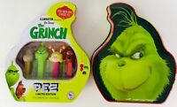 PEZ Christmas Limited Edition Candy Grinch Gift Tin With 4 Candy Dispensers