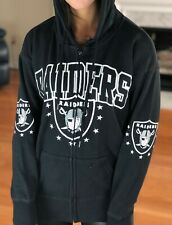 NFL Oakland Raiders Home Pride Full Zip Hoodie, Black, Women's S NWT $65.00