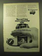 1969 Miranda Sensomat Camera Ad - Can't Buy More