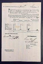 Argentina 1833 Tucuman to Cordoba Postal Manifest with Details Signed