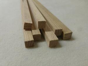 (a43) 10Stk 100cm Quadratleiste Eiche 12x12mm Vierkant Holzleisten