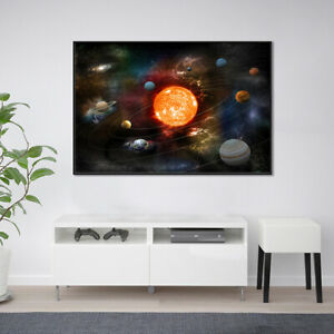 Details about Cosmic Planets Poster Wall Art Bathroom Picture Prints Decor Home