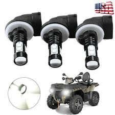 POLARIS SPORTSMAN HEADLIGHT LED BULBS 150W 3600LM 6000K WHITE HIGH POWER 3 PACK
