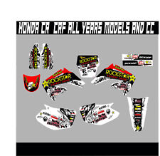 HONDA CR CRF 85 125 150 250 450 FULL GRAPHICS KIT DECALS STICKER KIT ALL YEARS
