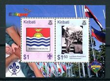 Kiribati 2007 MNH Centenary of Scouting 2v M/S Baden-Powell Scouts Flags Stamps