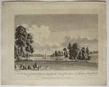 Gravure XVIIIe MICHAEL ANGELO ROOKER 1776 SANDBY Wakefield lodge Duke Grafton