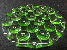 Green Vaseline Uranium glass neon plate car truck signal brake lens yellow light
