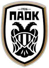 "PAOK FC Greece Football Soccer Car Bumper Sticker Decal 3.5""X5"""