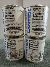 New listing Lot of 4 Cantex Conduit Cement 32oz No.99 Clear 7210603 for Pvc Conduits Ducts