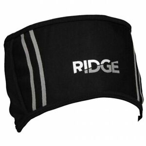 Ridge Wind Resistant Fleece Lined Cycling, Running Headband - Black One Size