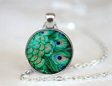 Peacock Necklace A Very Large Tail Covered With blue And Green Spots Which it